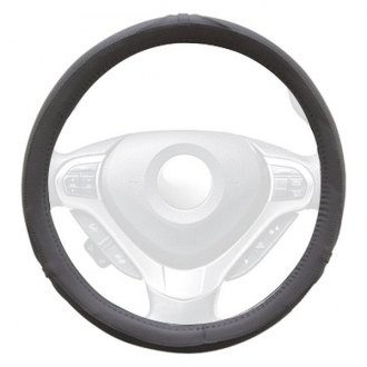 Winjet® - Gray Faux Leather Steering Wheel Cover