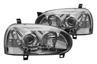 Winjet® - Chrome / Clear Projector Headlights with LEDs