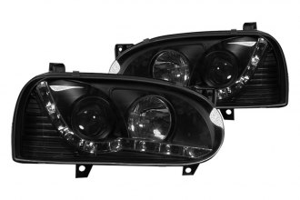 Winjet® - Black / Clear Projector Headlights with LEDs