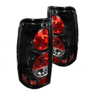 Winjet® - Glossy Black/Clear Euro Tail Lights