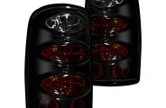 Winjet® - Black Euro Tail Lights with Smoke Lenses