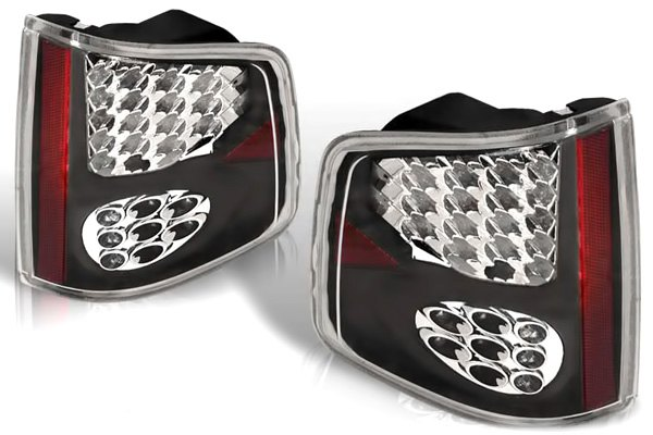 WINJET� - Black LED Tail Lights with Smoke Lenses