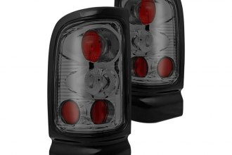 Winjet® - Chrome Euro Tail Lights with Smoke Lenses