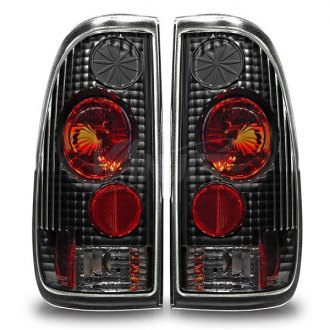 Winjet® - Black/Red Euro Tail Lights