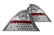 Winjet® - Chrome LED Tail Lights with Clear Lenses