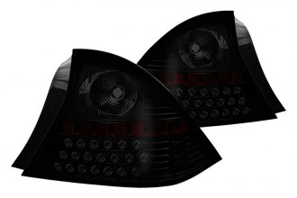 Winjet® - Black LED Tail Lights with Smoke Lenses