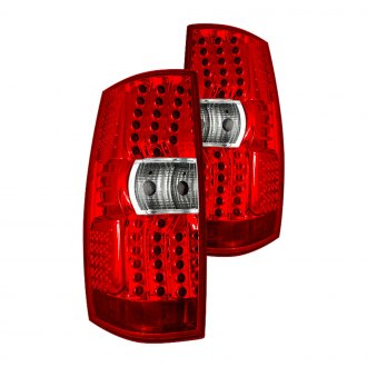 Winjet® - Chrome/Red LED Tail Lights