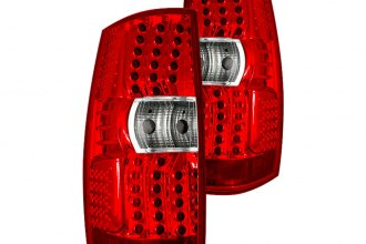 Winjet® - Chrome LED Tail Lights with Red Lenses
