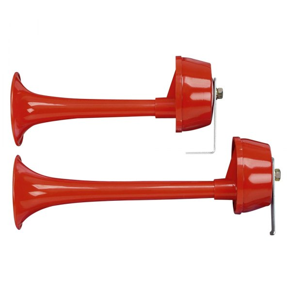 Wolo® - Twin Power™ 2 Red Trumpets Electrical Horn Set