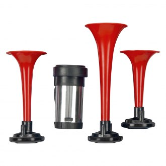 Wolo® - Armite™ Red 3 Trumpets Air Horn