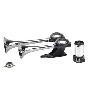 Wolo® - Challenger™ 2 Chrome Roof Mount Air Horn with Heavy Duty Compressor