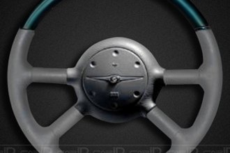 Remin® - Steering Wheel - Aquamarine with  Tan Leather
