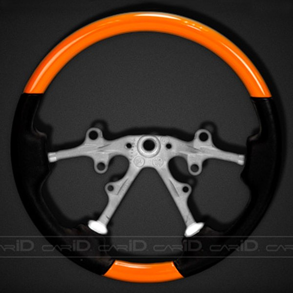 Remin® - Steering Wheel - Orange with Black Leather