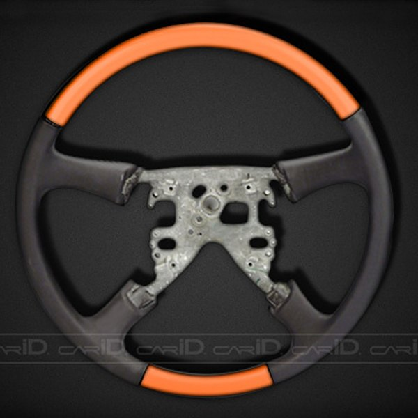 Remin® - Steering Wheel Without Radio Control - Orange with Black Leather