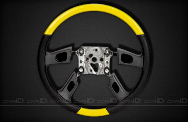 Remin® - Steering Wheel With Radio Control - Hummer Yellow with Black Leather