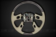Remin® - Steering Wheel With Radio Control - Blackwood with Neutral Leather