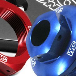 Works Connection® - Blue Steering Stem Nut