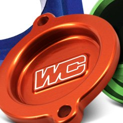 Works Connection® - Orange Oil Filter Cover