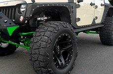 WORX® - 801SB TRIAD Satin Black with Milled Lip Accents with GOODYEAR Tires on Jeep Wrangler