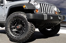 WORX® - 801SB TRIAD Satin Black with Milled Lip Accents on Jeep Wrangler