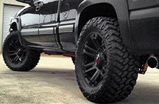 WORX® - 803SB BEAST Satin Black on Chevy Silverado