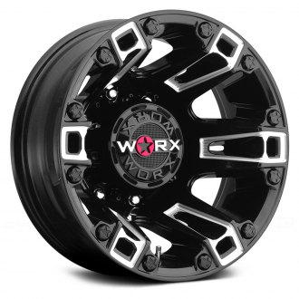 WORX® - 803BM BEAST DUALLY Gloss Black with Milled Accents and Clear Coat