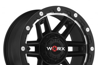 WORX® - 804SB TANK Satin Black with Milled Lip Accents