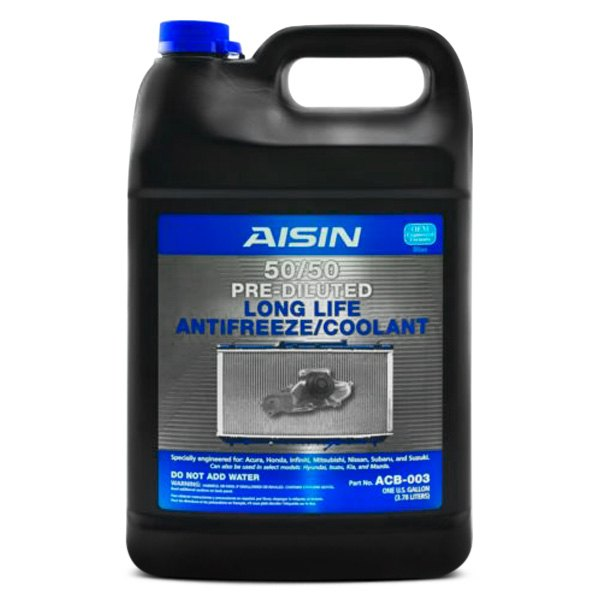 aisin acb003 prediluted 50 50 long life engine coolant and