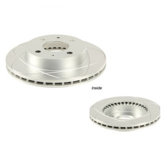 ATE® - Premium One Coated Slotted Front Brake Rotor