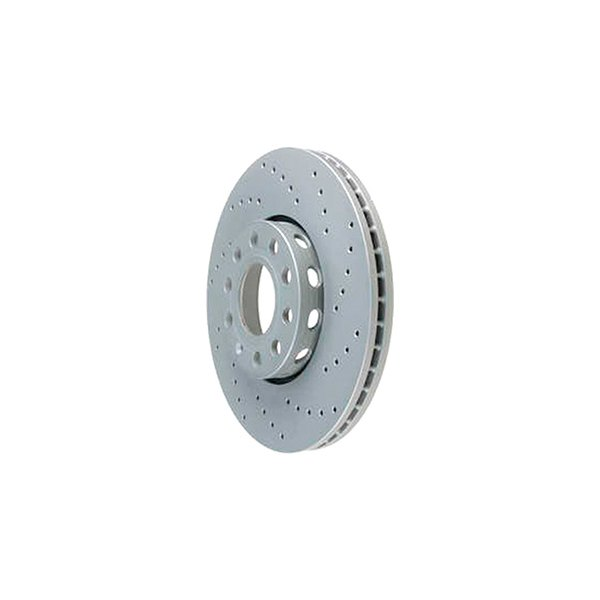 Zimmermann® - Sport Brake Coat Z Drilled 1-Piece Front Brake Rotor