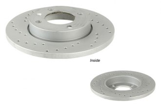 Zimmermann® - Coated & Cross Drilled Brake Disc