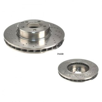 Zimmermann® - Standard Drilled Vented 1-Piece Front Brake Rotor