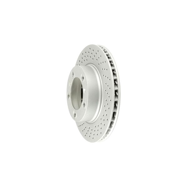 Zimmermann® - Coat-Z Drilled and Slotted 1-Piece Front Brake Rotor