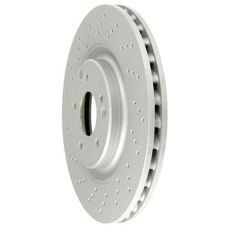 Zimmermann® - Coat-Z Drilled and Slotted Vented 1-Piece Front Brake Rotor