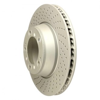 Zimmermann® - Coat-Z Drilled and Slotted Brake Rotor