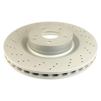 Zimmermann® - Coat-Z Vented Front Drilled and Slotted Brake Rotor