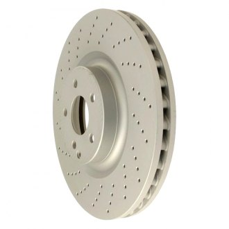 Zimmermann® - Coat-Z Drilled and Slotted Vented 1-Piece Brake Rotor