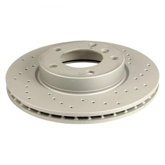 Zimmermann® - Sport Brake Coat Z Drilled Vented 1-Piece Front Brake Rotor
