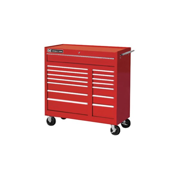 "Wright Tool Company® - 41"" 15 Drawer Red Cabinet"