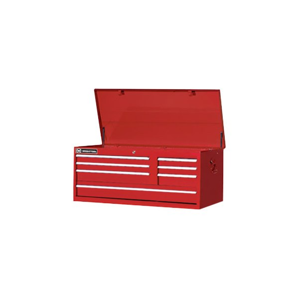"Wright Tool Company® - 41"" 7 Drawer Slides Red Chest"