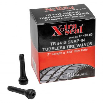 "31 Incorporated® - 50 Pcs. 2"" TR 418 Tubeless Rubber Snap-In Valve"