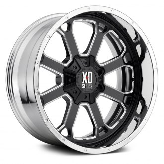 XD SERIES® - XD202 BUCK 25 Black and Milled Center with Chrome Lip