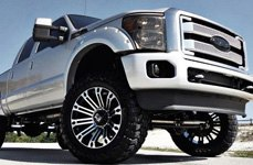 XD SERIES® - BRIGADE Gloss Black with Machined Face on Ford F-350