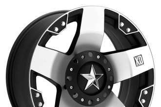 "XD SERIES® - ROCKSTAR Matte Black with Machined Face (18"" x 9"", 0 Offset, 8x165.1 Bolt Pattern, 130.81mm Hub)"