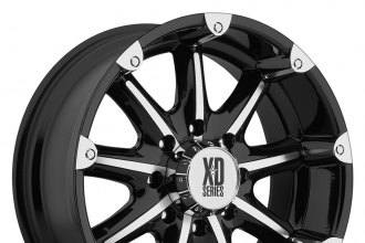"XD SERIES® - BADLANDS Gloss Black with Machined Face (20"" x 9"", +18 Offset, 6x139.7 Bolt Pattern, 106.25mm Hub)"
