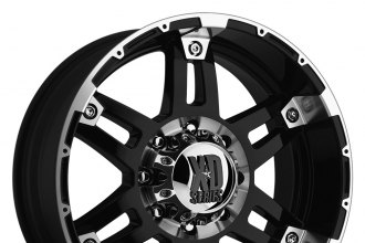 "XD SERIES® - SPY Gloss Black with Machined Lip and Bezel (17"" x 8"", +18 Offset, 6x139.7 Bolt Pattern, 106.25mm Hub)"