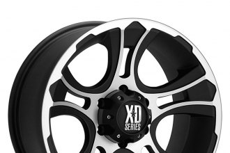 "XD SERIES® - CRANK Matte Black with Machined Face (20"" x 9"", 0 Offset, 6x139.7 Bolt Pattern, 106.25mm Hub)"