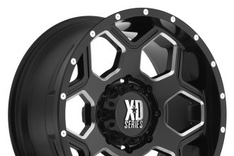 "XD SERIES® - BATALLION Gloss Black with Milled Accents (20"" x 9"", +18 Offset, 5x139.7 Bolt Pattern, 108mm Hub)"