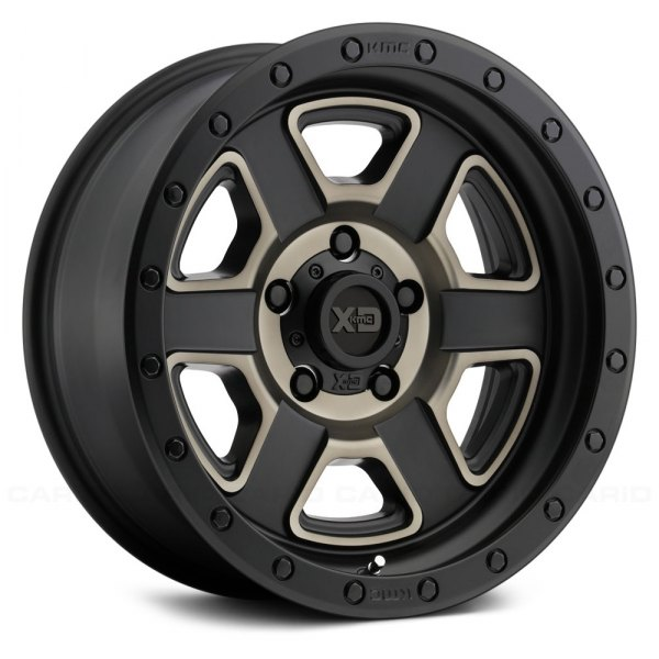XD SERIES® - XD133 FUSION OFF-ROAD Satin Black Machined with Dark Tint Clear Coat