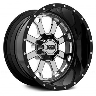 XD SERIES® - XD202 BUCK 25 Chrome Center with Black and Milled Lip
